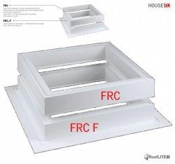 ROOFLITE Adapterkränzen  FRC, Adapterkranz (+15cm) Einbauzubehör für FRF B600/ FRE B600