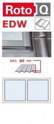 Kombi-Eindeckrahmen Roto Q-4 EDW 2/1 Eindeckrahmen - für profilierte Eindeckmaterialien / Profilbeläge bis zu 8 cm hoch Profil