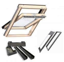 Dachfenster-Set Velux GLL Holzdachfenster 3-fach-Verglasung EDJ Eindeckrahmen