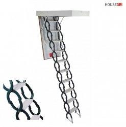 Bodentreppen Minka Elegance 60x120 x300H Isolationsbodentreppe mit starkem Stahlscherenpaket