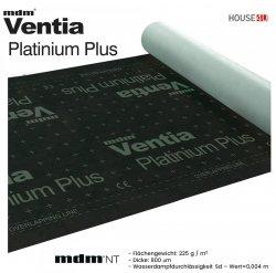 Dampfsperbahn MDM®  Ventia Platinium Plus Dreischichtig mit einem Gewicht von ca. 225 g / m² und einer Dicke von 800 µm, Wert Sd=0,004 m.