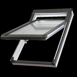 Dachfenster Okpol IGHV E2 (PVC) Hoch-Schwingfenster Kunstoffenster PVC Profile in Weiß
