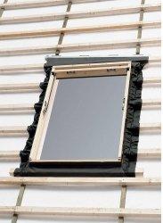Eindeckrahmen Velux EL 6000 für Austauschfenster, Dacheindeckung hochprofiliert, Aluminium, für flaschen Eindeckmaterialien  bis 1,6 cm (2x0,8 cm) Höhe mit Dämmrahmen BDX