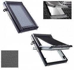 Hitzeschutz Markise Roto ZAR Manual Außenrollo Screen, Hitzeschutz transparent schwarz Anti-Hitze-Markise für ROTO Dachfenster