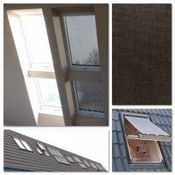 OUTLET: Hitzeschutz-Markise OKPOL AMW 66x__ Außenzubehör Markise Anti-Hitze-Markise für OKPOL Dachfenster [interne montage Okpol AMW]