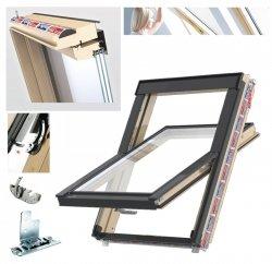 Dachfenster Keylite FF+ CP KTG Pine Schwingfenster 3-fach-Verglasung Uw=1,0 Dachfenster aus Holz: klar lackiert Boden-Griff