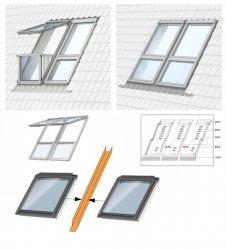 VELUX ETX WK34 Eindeckrahmen 10 cm (Rinne 10 cm) Für Kombi-Dachfenster GIU/GIL Abstand 10 cm