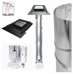 FAKRO Tageslicht-Spot SRH Durchmesser ∅ 350 550mit starrem Rohr mit Eindeckrahmen, für hochprofilierte Dacheindeckungen bis zu 120mm