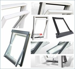 OUTLET: Dachfenster RoofLITE Magnetic 114x118 Weiß Holz Schwingfenster