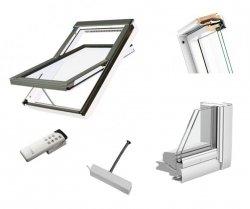 Dachfenster Fakro FTU-V Z-Wave U3 Schwingfenster Holz weiß lackiert wie Kunstoff erhöhter Feuchteresistenz