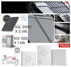 Werbepaket Velux SSL x2 + 1x KIX 300 Außenrollladen Aluminium INTEGRA® Solar- Rollladen Dunkelgrau