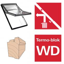 Dachfenster Roto Designo R65 H Schwingfenster aus Holz blueLine mit Wärmedämmblock