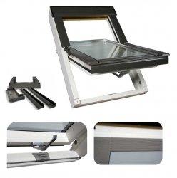 OUTLET: Dachfenster Optilight VB-W 55x78 Weiß lackiert Schwingfenster Holz