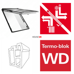 DachfensterRoto R89G H200 (WDF R89G H WD) Uw: 0,99 Klapp-Schwingfenster aus Holz blueTec mit Wärmedämmblocka