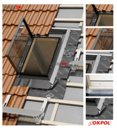 Dachluken OKPOL VERSA WVD+ 47x73 Ausstiegsfenster jetzt mit neuen Eindeckrahmen, für ungeheizte Räume