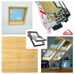 Dachfenster Roto Designo R68C K  KK Kiefernfurnier blueLine Comfort Schwingfenster aus Kunststoff mit Wärmedämmblock Kunststoff Designo R6 Schwingfenster 2-fach Comfort Aluminium