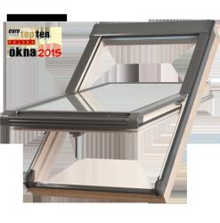 Dachfenster Okpol ISO I3 Schwingfenster Holz klar lackiert
