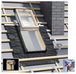 Dachluken Okpol Versa ISW E2+ 55x78 für Nutzräume Uw=1,2 Dachausstiegsfenster aus Holz SOLID+ - Ausstiegsfenster - Dachausstieg - Dachluke - Dachfenster