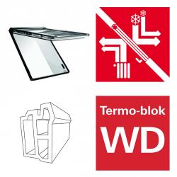 Dachfenster Roto Designo RotoComfort Quadro i89G WD elektrisches Klapp-Schwingfenster blueTec aus Kunststoff mit Wärmedämmblock