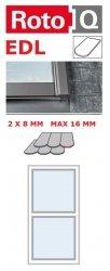 Kombi-Eindeckrahmen Roto Q-4 EDL 1/2 Eindeckrahmen für Flach erstreckt bis zu 1,6 cm