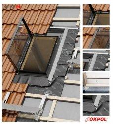 Dachluken OKPOL VERSA WVD+ 86X86 Ausstiegsfenster jetzt mit neuen Eindeckrahmen, für ungeheizte Räume
