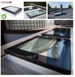 Flachdach-Fenster Fakro DXC-C P4 Secure Festverglastes U=1,2 W/m²K * Secure-Flachdach-Fenster, Fenster mit einem erhöhten konstruktiven Sicherheitsstand, Flachverglasung, inneres VSG, 0 – 15 Grad