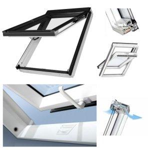 Dachfenster Fakro PPP-V U3 preSelect Klapp-Schwingfenster Kunststofffenster PVC Kunststofffenster PVC Uw=1,3 W/m²K