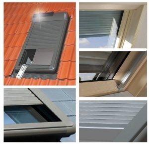 OUTLET:Außenrolllad<br />en Fakro ARZ Solar 102 55x98 Solar-Rollläden