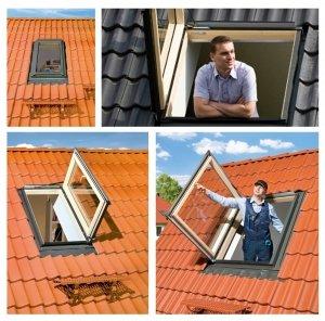 OUTLET: Ausstiegsfenster Fakro FWP U3 66x118 Thermoisolations-Aus<br />stiegsfenster 1,3 W/m2K Versand 48H