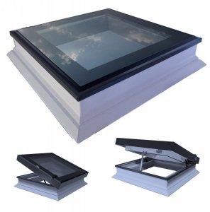 Elektrisches Flachdach-Fenster OKPOL PGC A1 Lichtkuppel mit Regensensor elektrisch Uw=1,3 W/m²K