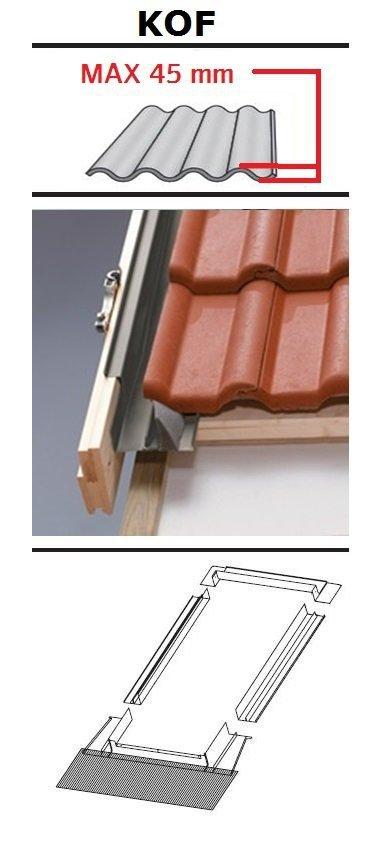 Eindeckrahmen Oman KOF für profilierte Eindeckmaterialien 0 - 45mm www.house-4u.eu