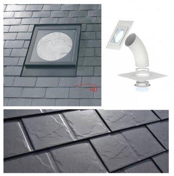 """Tageslicht-Spot mit flexiblem Rohr VELUX TLF 0K14 2010 für flache Eindeckmaterialien 0K14 Durchmesser von:   14"""" / 35cm"""