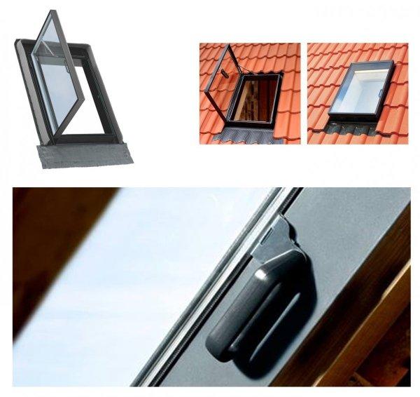 Ausstiegsfenster VELUX GVK 0000Z Dachausstieg für Kalträume ungedämmt Schwarz Dachfenster Dachausstieg Ausstieg Dachluke