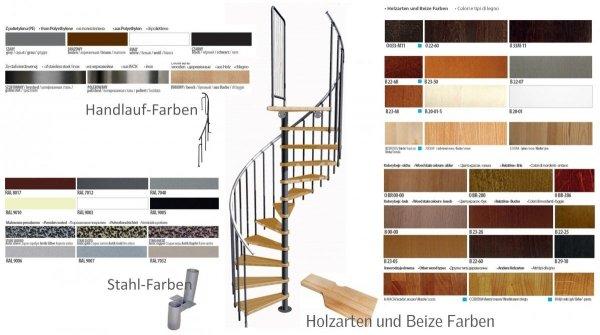 Treppen Atrium DIXI Schwarz 11 Stufen Natürliche Erle modular Systemtreppen