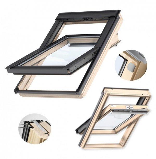 """Dachfenster VELUX INTEGRA® GLL 1061 S20005 incl. KMG 100K Elektrofenster 3-fach Verglasung, Schwingfenster aus Holz – Elektrisch Automatische Fenstern satz DIY - """"Mach es selbst"""" - io-homecontrol System"""