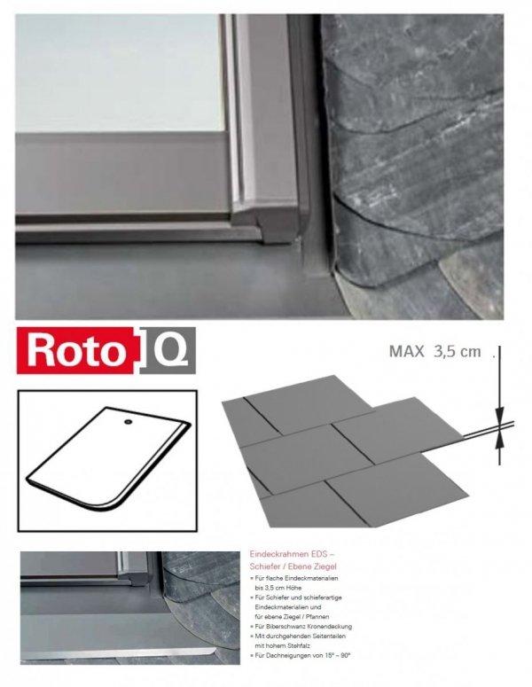 Eindeckrahmen Roto Q-4 EDS Eindeckrahmen - für Flachdecken und profilierte Eindeckmaterialien bis max. 35 / Dachziegel oder Bitumenschindeln Schiefer www.house-4u.eu