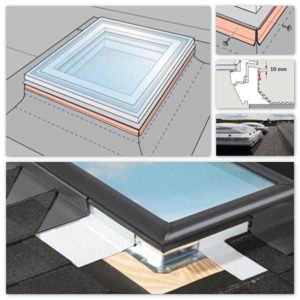Kappleisten-Set Velux ZZZ 210 für Flachdach-Fenster www.house-4u.de