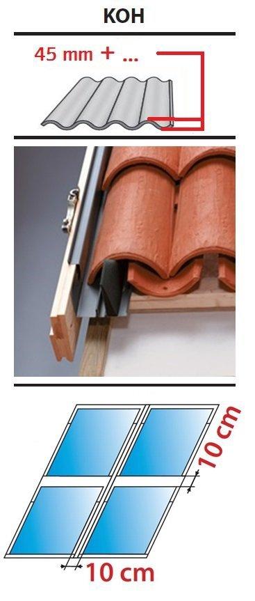 Kombi Eindeckrahmen 2/2 Oman KOH für hochprofilierte Eindeckmaterialien 45 - 90mm www.house-4u.eu