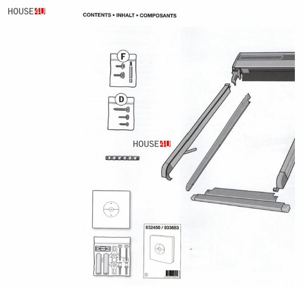 VELUX Dachfenster 3-fach Pakete-Set Uw=1,0 GLU Schwingfenster-Set aus Kunststoff: GLU 0064 + EDZ 2000 mit Solar-Außenrollladen  Kompatibilität mit dem VELUX io-homecontrol® INTEGRA® System, Aluminium, Dunkelgrau inkl. Fernbedienung / Funk-Wandsc