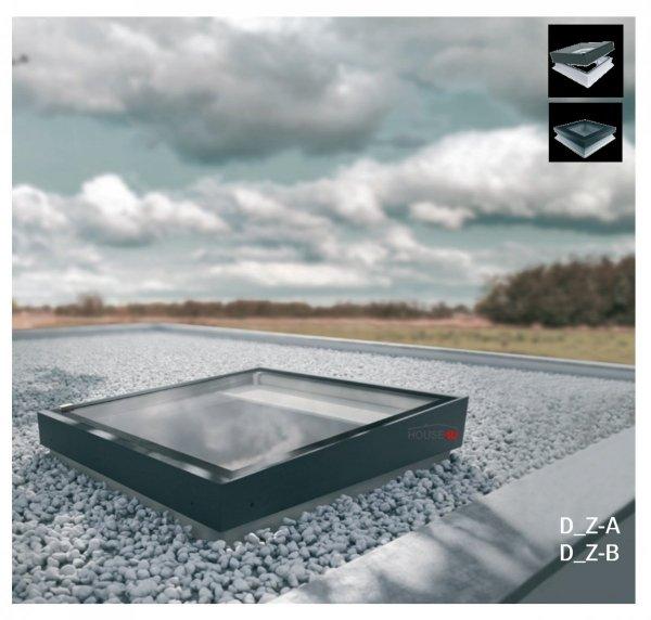 Flachdach-Fenster FAKRO DMZ-A TYP Z Glas mit der Neigung U=0,95 W/m²K * manuelle Steuerung