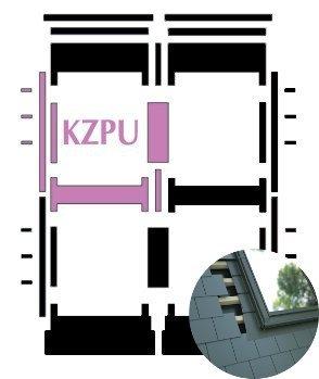 Kombi-Eindeckrahmen Okpol KZPL für flache Biberschwanzeindeckungen www.house-4u.eu