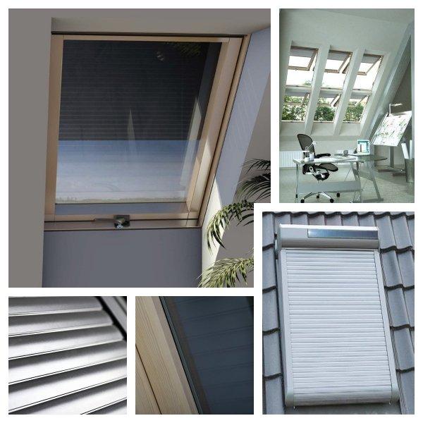 OUTLET: Solar-Außenrollladen Okpol ARZS 94x118 Rollladen mit Solarbatterien per Fernbedienung bedient