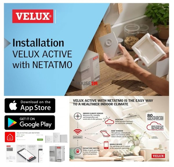 VELUX App Control KIG 300 Bedienung für VELUX INTEGRA® Kompatibel mit Hey Google, Apple HomeKit, Somfy Sonnenschutzprodukte,