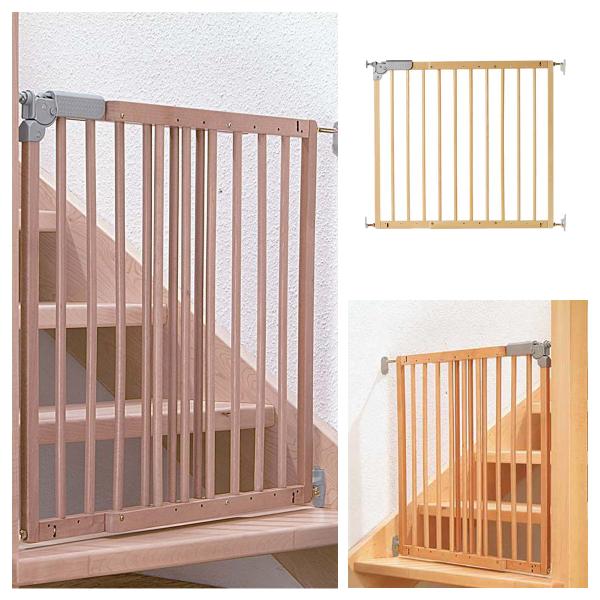 Treppenschutzgitter DOLLE Pia Elegante Holzoptik und sicherer Schutz in einem