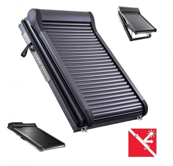 Außenrollladen Roto ZRO QR1 SF AL SOLAR Automatische Rollladen für Dachfenster Roto Q-4