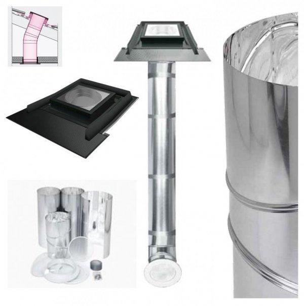 FAKRO Tageslicht-Spot SRH mit starrem Rohr mit Eindeckrahmen, für hochprofilierte Dacheindeckungen bis zu 120mm