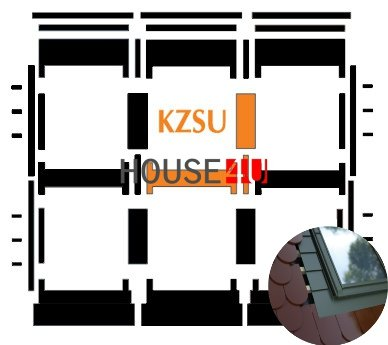Kombi-Eindeckrahmen Okpol KZSLH für hohe Biberschwanzeindeckungen www.house-4u.eu