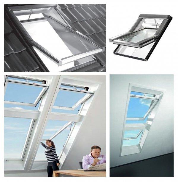 Dachfenster Elektrofenster Roto Designo WDT R48 H WD E_ RotoTronic Holz Automatische Fenstern 2-fach Verglasung mit Verbundglas