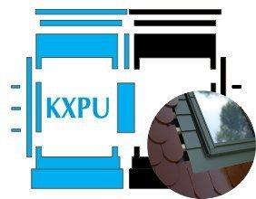 Kombi-Eindeckrahmen Okpol KXPLH für hohe Biberschwanzeindeckungen www.house-4u.eu