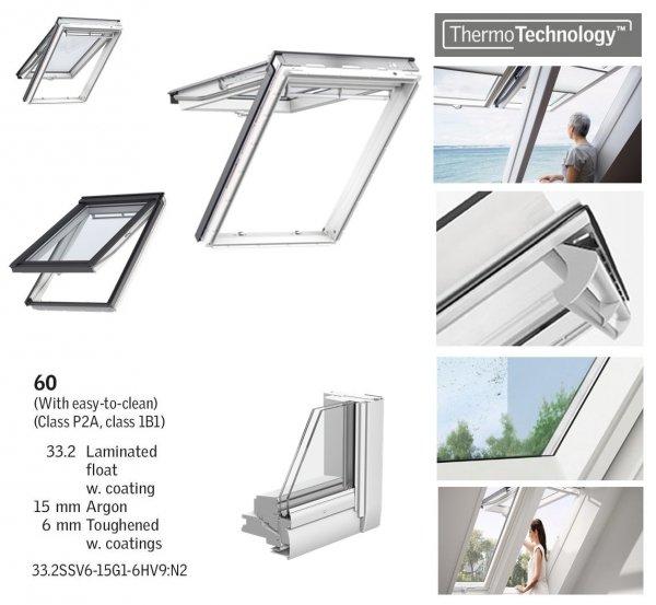 Klapp-Schwingfenster VELUX GPU 0060 5-STAR Kunststoff-Fenster mit Riesen-Öffnungswinkel www.house-4u.eu